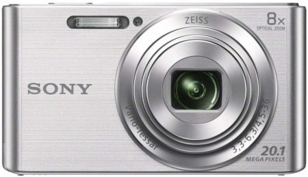 This is an image of 5. Sony Cybershot DSC-W830 in silver colour
