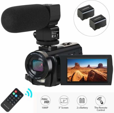 This is an image of a black Actinow vlogging camera.