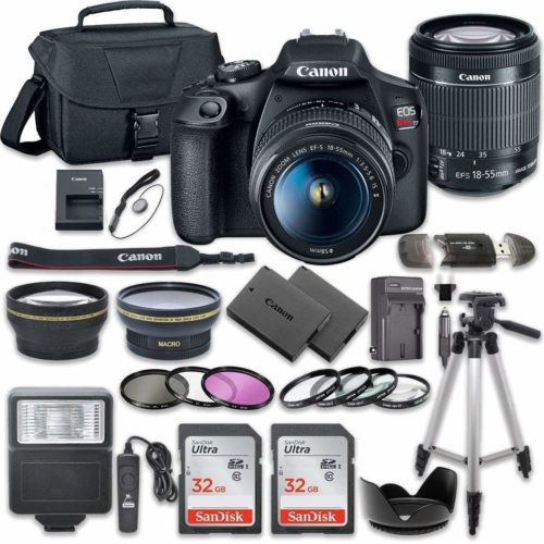 Canon EOS Rebel T7 DSLR Camera Bundle with Canon EF-S 18-55mm