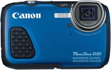 Image of Canon D30-Waterproof Digital Camera in blue colour
