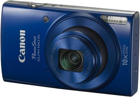 This is an image of Cannon power-shot ELPH in Blue colour