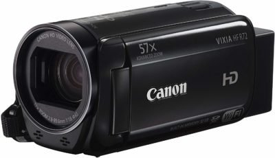This is an image of a black VIXIA HF R72 Canon camera recorder.