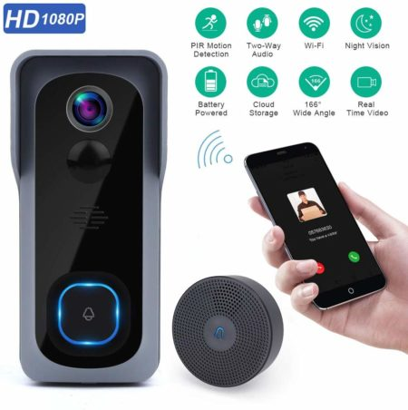 This is an image of Doorbell Camera Wi-Fi with Motion Detector