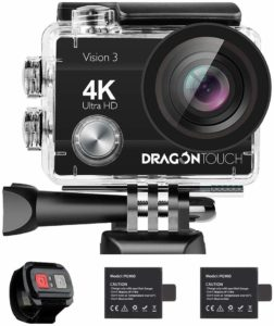 This is an image of a Dragon Touch Vision 3 action camera.
