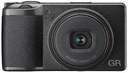 This is an image of Digtal compact camera in black color