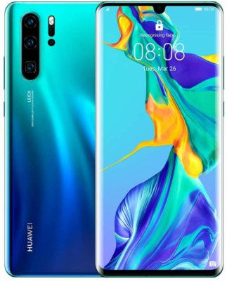 This is an image of an aurora Huawei smartphone.