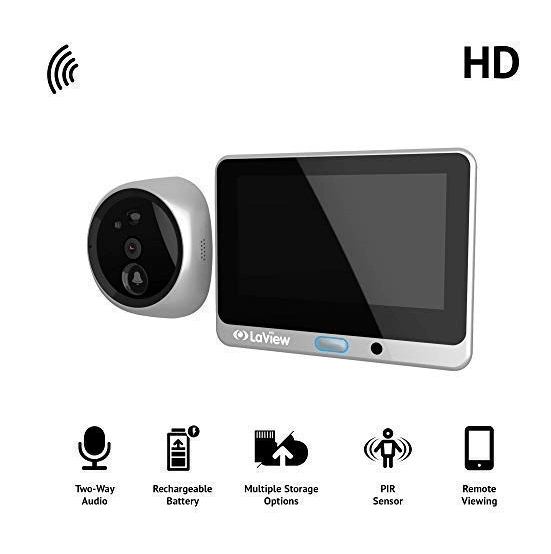 image of a wireless video recorder and icon app features