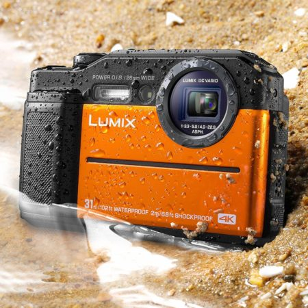 This is an image of Panasonic DC-TS7D Lumix TS7 Waterproof Tough Camera, 20.4 Megapixels, 4.6X Zoom Lens