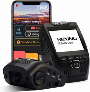 This is an Of Black Rexing-V1-4K-Dash Cam