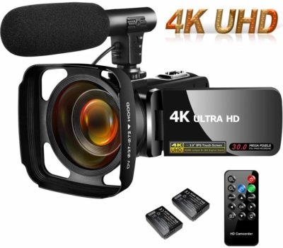 This is an image of a 4K UHD vlogging camera by Sauleoo.