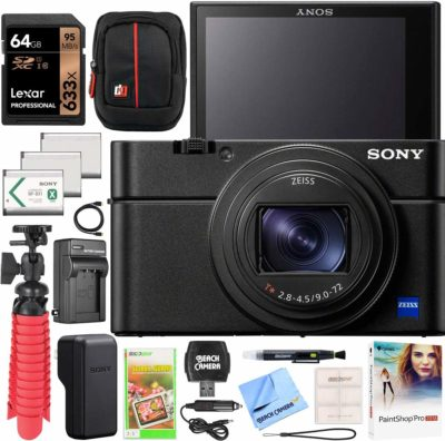 This is an image of a RX100 VII bundle pack by Sony.