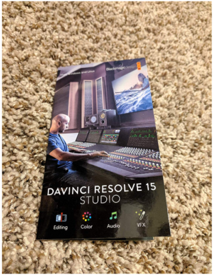 This is an image of Design Blackmagic Studio Activation card