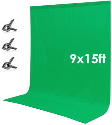 This is an image of green screen backdrop for studio photography