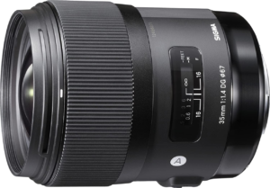 this is an image of the sigma 35mm nikon lens