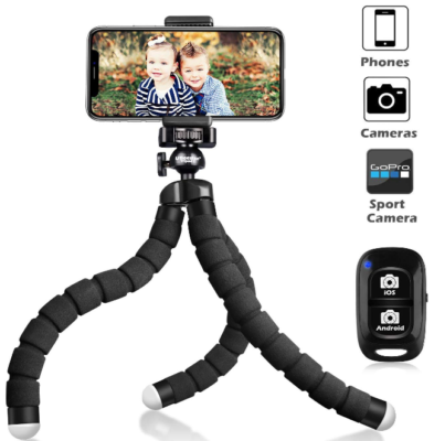 This is an image of Tripod for phone model S in black color