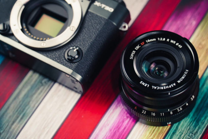 The Fujifilm X-T30 mid-range mirrorless camera