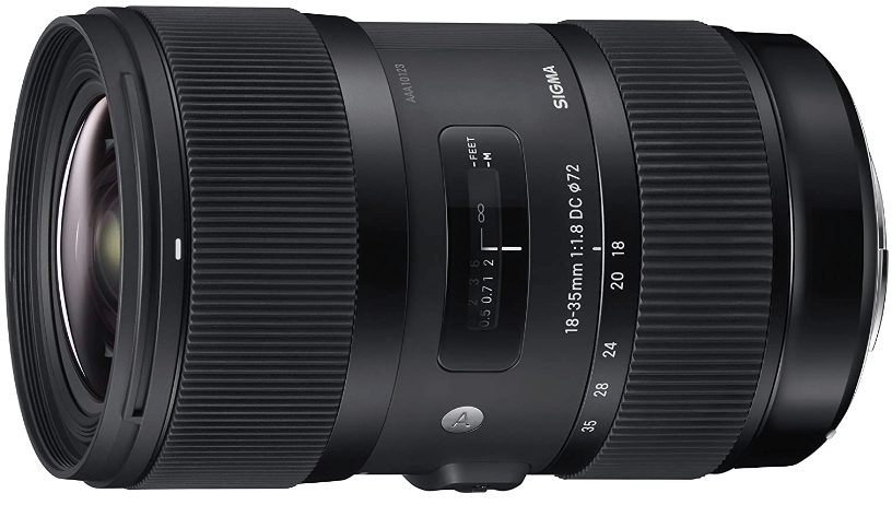 This is an image of a black Sigma Macro 105mm camera lens