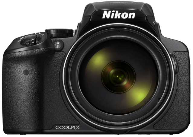 This is an image of a black Nikon COOLPIX P900 Digital Camera with 16MP CMOS sensor and 83x optical zoom