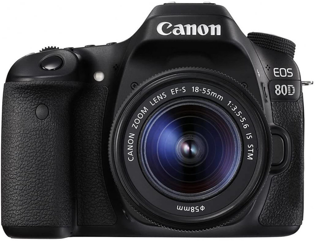 Canon EOS 80D digital camera, black