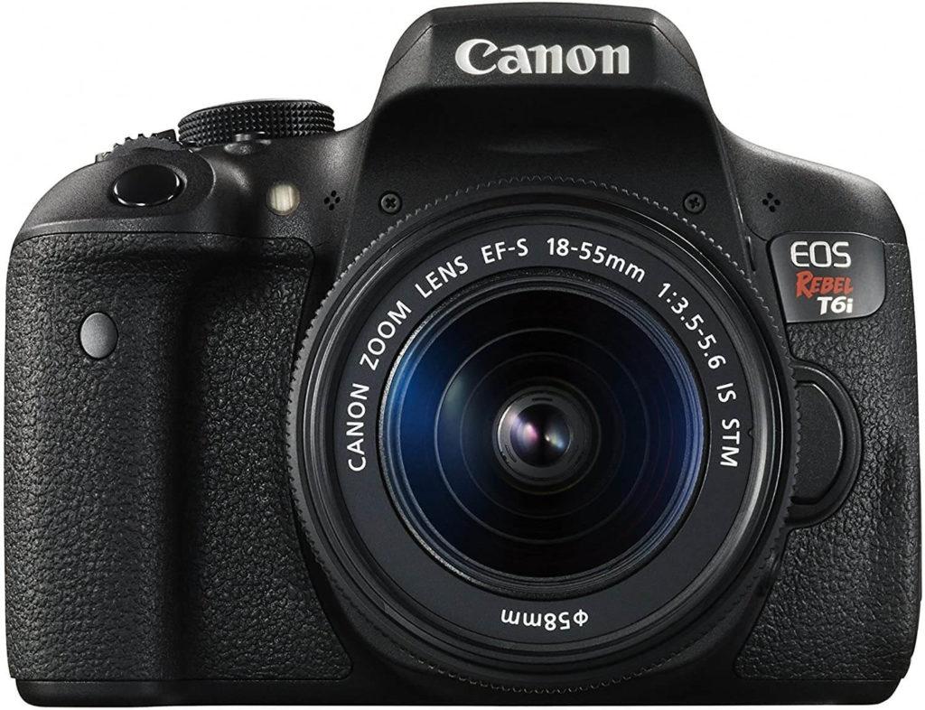 Canon Rebel T6i digital camera, black