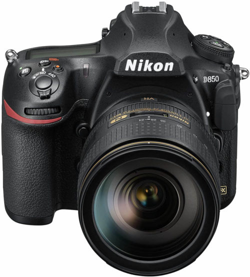 front view of the Nikon D850