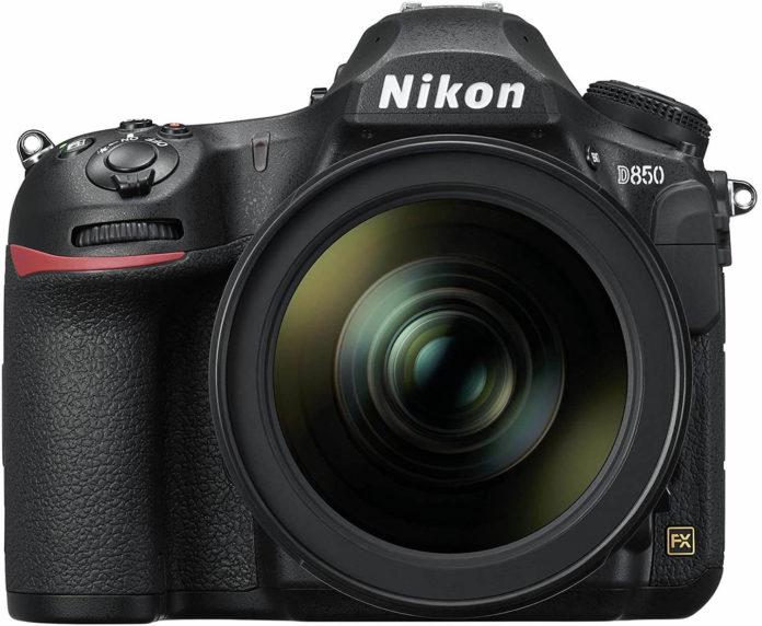 front view of the Nikon D850 digital camera