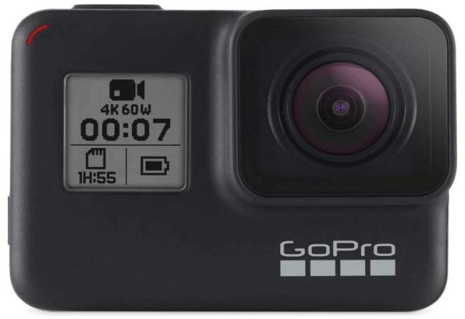 This is an image of a black GoPro HERO7 Waterproof Digital Action Camera