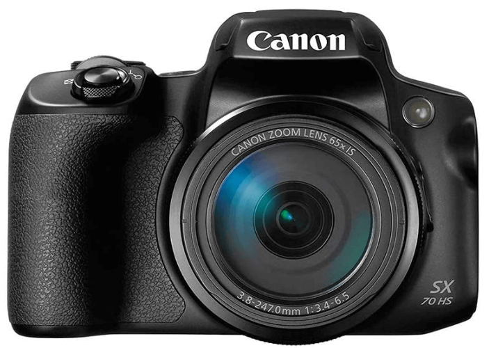 This is an image of a black Canon Powershot SX70 20.3MP Digital Camera with 65x Optical Zoom