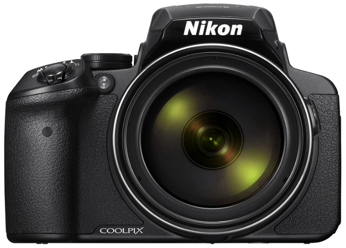 This is an image of a black Nikon COOLPIX P900 Digital Camera with 83x Optical Zoom and 16MP sensor
