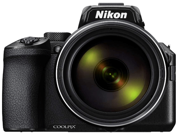 This is an image of a black Nikon COOLPIX P950 Digital Camera with 16MP sensor and 24 - 2000mm lens zoom
