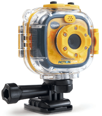 This is an image of a yellow VTech Kidizoom Action Camera