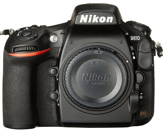This is an image of a black Nikon D810 FX-format Digital SLR Camera