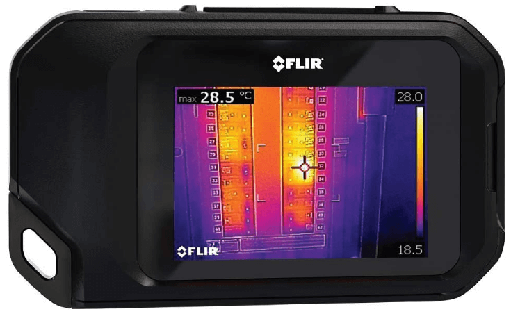 This is an image of a black FLIR C3 Thermal Imaging Camera