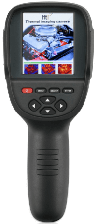 This is an image of a black Hti HT-18,Thermal Imaging Camera-Handheld Infrared Camera