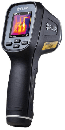 This is an image of a black FLIR TG165 - Spot Thermal Camera