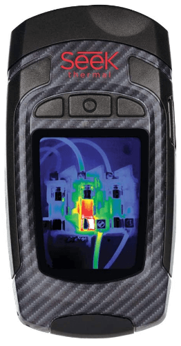 This is an image of a black Seek Thermal Revealpro – Ruggedized, High Resolution Thermal Imaging Camera