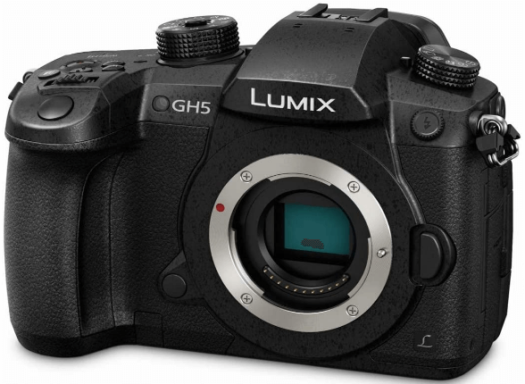 This is an image of a black Panasonic LUMIX GH5 Digital Camera with 20.3 Megapixel