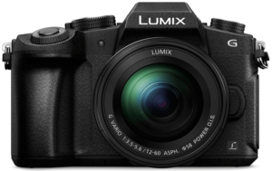 This is an image of a Panasonic LUMIX DMC-G80MEB-K digital Camera with 12-60 mm Lens