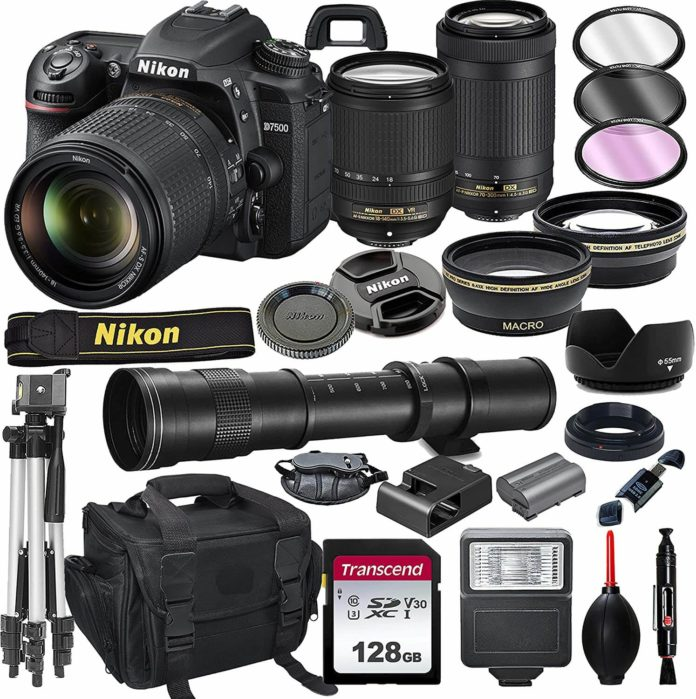 NikonD7500 Bundle Deal with accessories