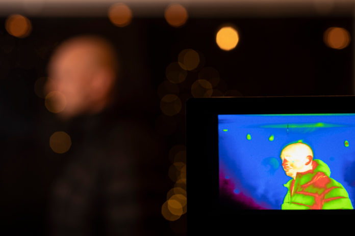 Using a thermal camera at an event