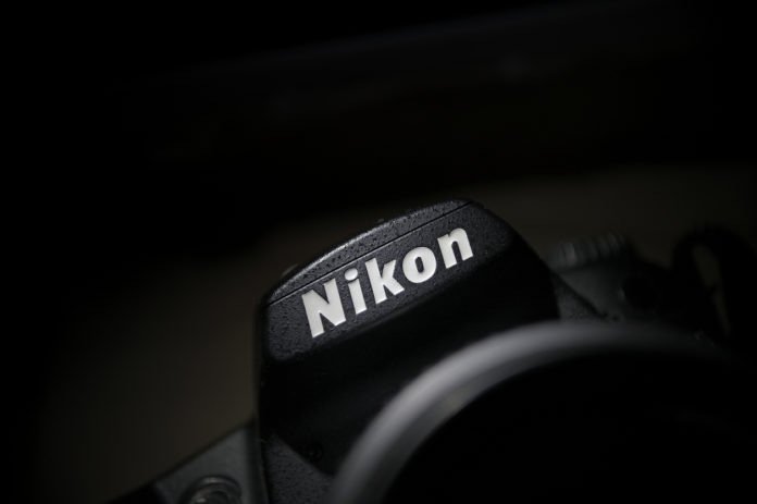 this is an image of a Nikon logo on a DSLR camera