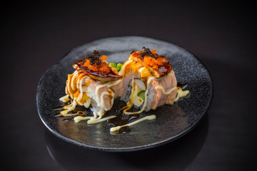 Wagyu roll with foie-gras topping
