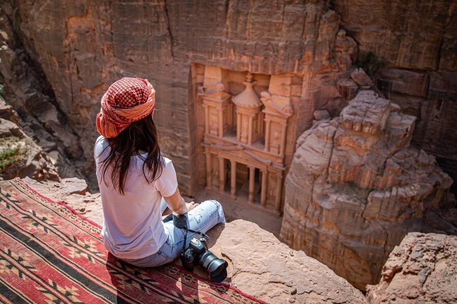Picture of a girl in Petra, Jordan