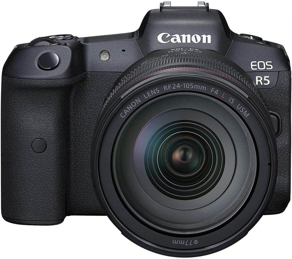 Canon EOS R5 with lens (fron view)