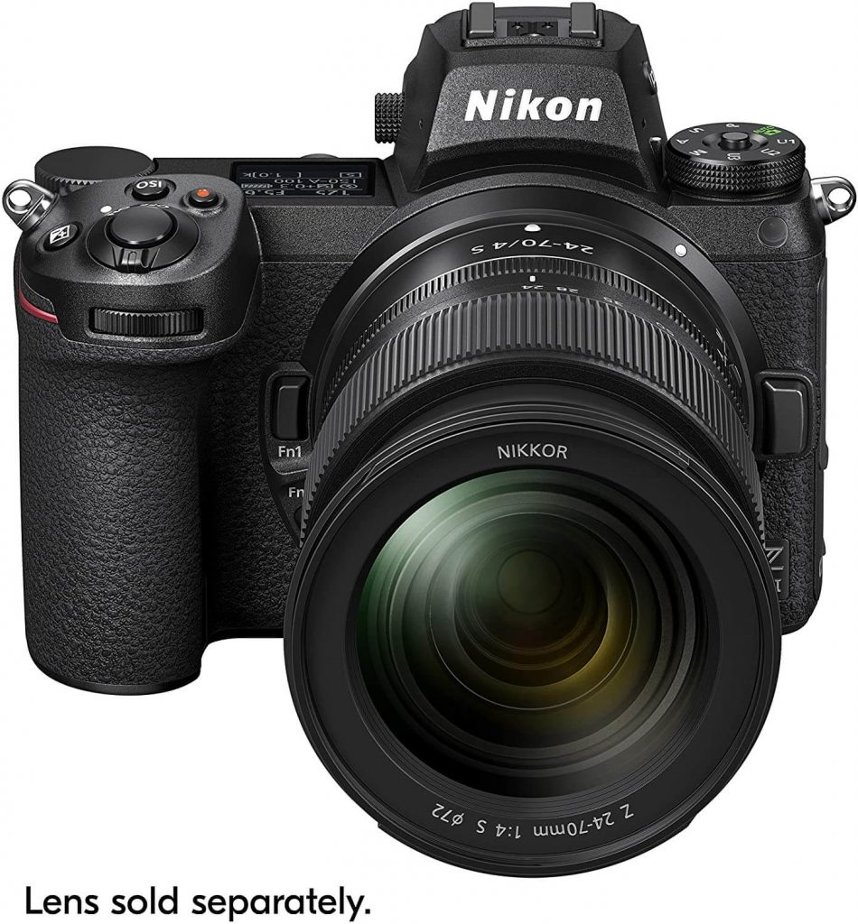 Nikon Z7 II camera with lens (front view)
